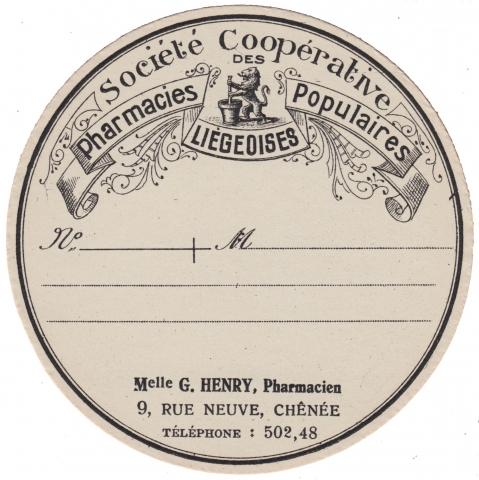 Apothecary Label Societe Cooperative