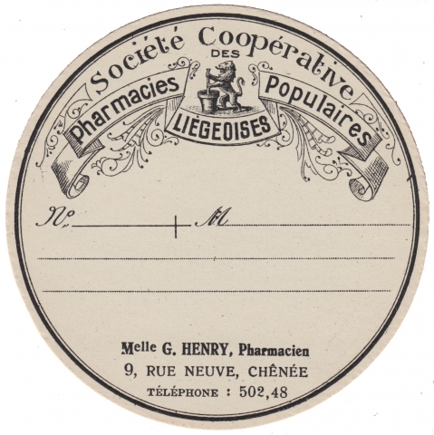 Apothecary Label Societe Cooperative