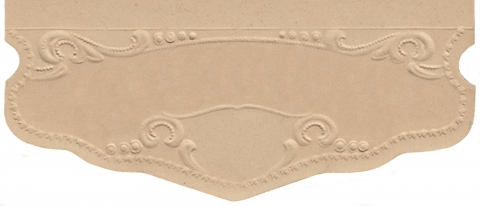 Blind Embossed Vintage Label