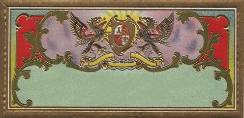 Vintage Label Blank Shield