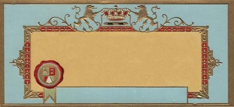 Vintage Label Blank Light Blue
