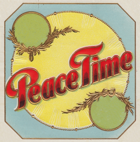 Peace Time Vintage Label