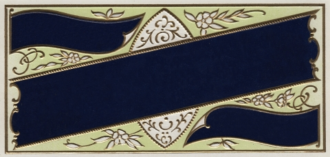 Embossed vintage Label Navy Blue