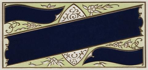 Embossed vintage Label Navy Blue