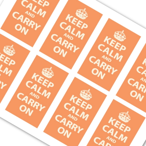 Keep Calm and Carry On Orange
