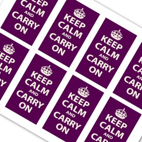 Purple Keep Calm and Carry On