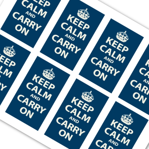 Navy Blue Keep Calm and Carry On