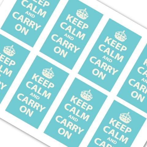 Robins Egg Blue Keep Calm and Carry On