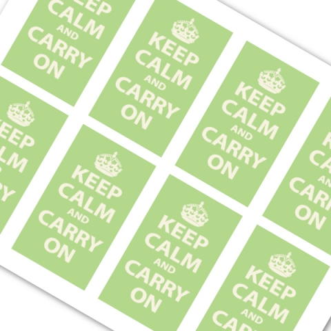 Keep Calm and Carry On Pistachio Green