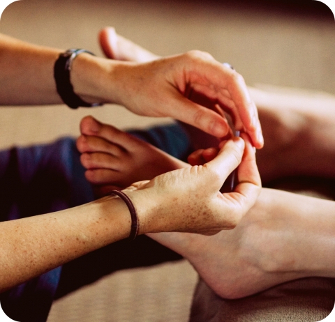 Acupuncture Hands Feet with Needle