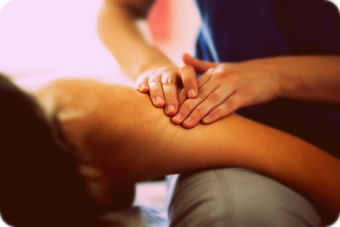 massage therapy arm and shoulder