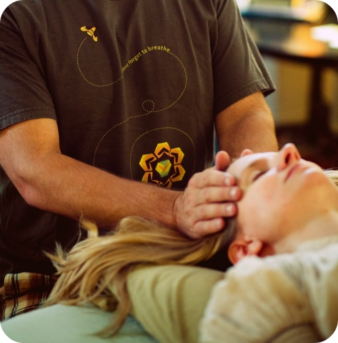 Reiki Hands on Temple