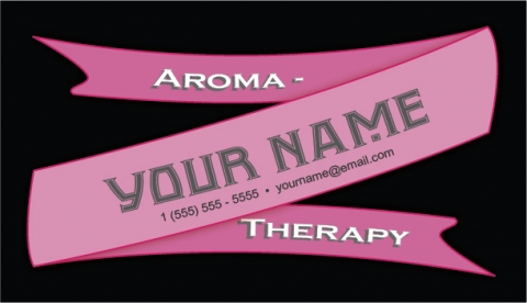 Ribbon Business Card Raspberry