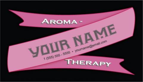 Ribbon Business Card Raspberry