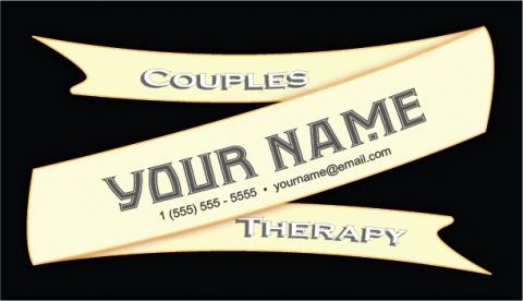 Couples Therapy Cream Color Ribbon Design