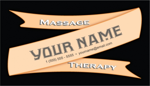 Massage Therapy Ribbon Design