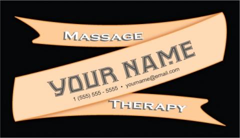 Massage Therapy Ribbon Design