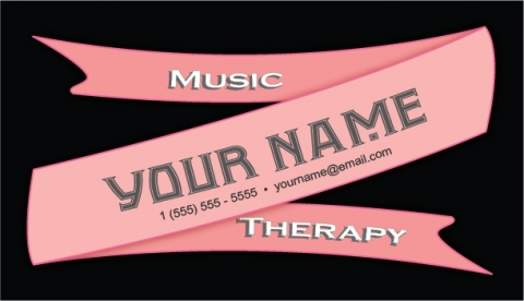 Pink Ribbon Design Music Therapy Customizable