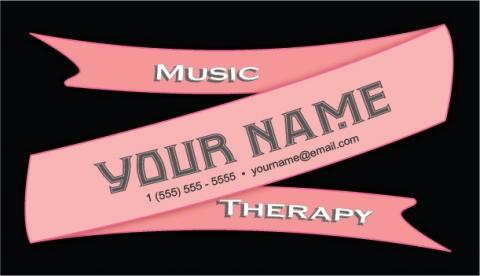 Pink Ribbon Design Music Therapy Customizable