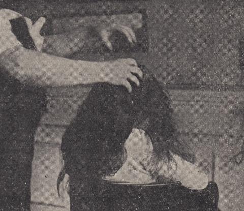 Scalp Massage Black and White