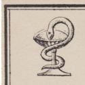 Vintage Apothecary Label Bowl of Hygeia