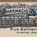 Belgian Apothecary Label Blue and Gold