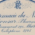 Round Pharmacie label in blue