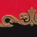 Red and Black Embossed Label Blank
