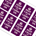 Purple Keep Calm and Carry On