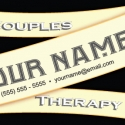 Couples Therapy Cream Color Ribbon Design