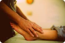 Reiki Hands on Ankles